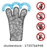 mesh grab gesture web icon... | Shutterstock .eps vector #1735766948