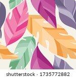 vector hand drawn leaves... | Shutterstock .eps vector #1735772882