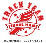 school track team shirt design  ... | Shutterstock .eps vector #1735776575