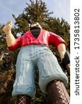 Small photo of Klamath, California - 2017: Paul Bunyan statue at Trees of Mystery. 49-foot statue of Paul Bunyan is visible from US 101. Paul Bunyan is a giant lumberjack in American and Canadian folklore tall tales