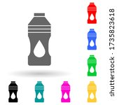 oil bottle multi color style...