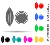 lentils multi color style icon. ...