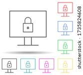internet security multi color...