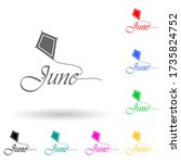 june multi color style icon....
