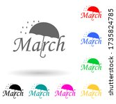 march multi color style icon....