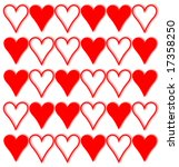 red and white hearts | Shutterstock . vector #17358250