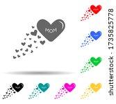 heart mom multi color style...