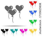 balls heart multi color style...