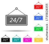 signboard 24 7 multi color...