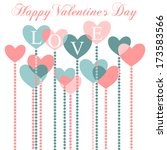 happy valentine's day greeting... | Shutterstock .eps vector #173583566