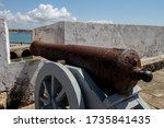 Old Cannons Outdoors Aiming At...