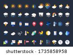 weather flat icon set  include...