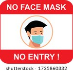 no face mask  no entry to... | Shutterstock .eps vector #1735860332