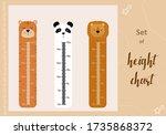 kids space height chart. cute...   Shutterstock .eps vector #1735868372