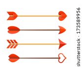 cupid's arrows. vector. | Shutterstock .eps vector #173589956