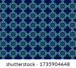 geometric blue rings and blue... | Shutterstock .eps vector #1735904648