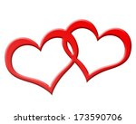 two red hearts joined together | Shutterstock . vector #173590706