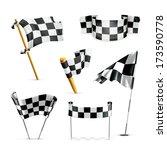 checkered flags  bitmap copy | Shutterstock . vector #173590778