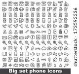 set phone icon on white... | Shutterstock .eps vector #173592236