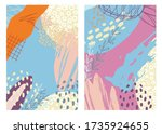 trendy creative cards with... | Shutterstock .eps vector #1735924655