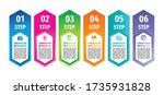 infographic business vertical...   Shutterstock .eps vector #1735931828