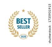 best seller 2020 badge logo...   Shutterstock .eps vector #1735931915