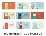 front door architecture banner...   Shutterstock .eps vector #1735936628