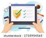 security verification check...   Shutterstock .eps vector #1735954565