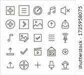 icon set of sign. editable...