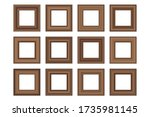 big set of squared vintage ... | Shutterstock .eps vector #1735981145