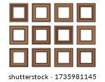 big set of squared vintage ...   Shutterstock .eps vector #1735981145