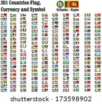 201 countries currency symbols... | Shutterstock .eps vector #173598902