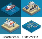 fish industry seafood... | Shutterstock .eps vector #1735990115
