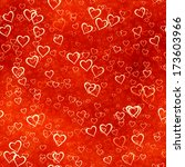 hearts texture background  | Shutterstock . vector #173603966