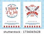 set of vintage 4th of july... | Shutterstock .eps vector #1736065628