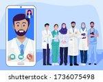 digital health concept ... | Shutterstock .eps vector #1736075498
