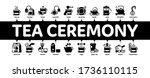 tea ceremony tradition minimal... | Shutterstock .eps vector #1736110115