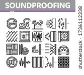 soundproofing building material ... | Shutterstock .eps vector #1736112338