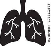 lungs vector icon design...   Shutterstock .eps vector #1736113535