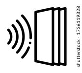 sound heading for door icon... | Shutterstock .eps vector #1736119328
