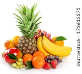 seasonal organic raw fruit.... | Shutterstock . vector #173612375