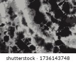 black gray color tie dye... | Shutterstock .eps vector #1736143748