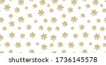 Seamless Pattern Golden Stars...