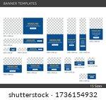 editable banner templates ... | Shutterstock .eps vector #1736154932