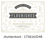 vintage ornaments swirls and... | Shutterstock .eps vector #1736163248