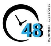 48 hours icon in trendy... | Shutterstock .eps vector #1736172992
