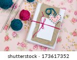 old notebook for love notes ... | Shutterstock . vector #173617352