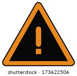 rounded triangle shape hazard... | Shutterstock . vector #173622506