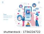 dating app  online dating...   Shutterstock .eps vector #1736226722