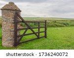 Open Wooden Gate Into Farmers...